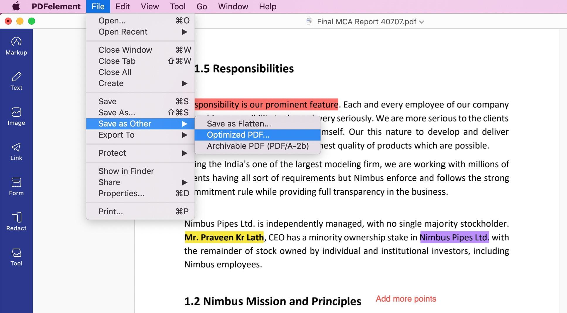 compress PDF