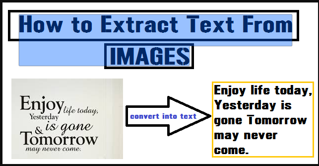 Extract and Copy Text From Any Images