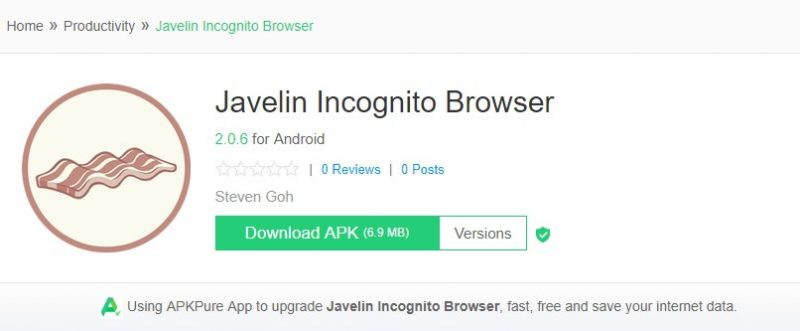 Javelin Incognito Browser
