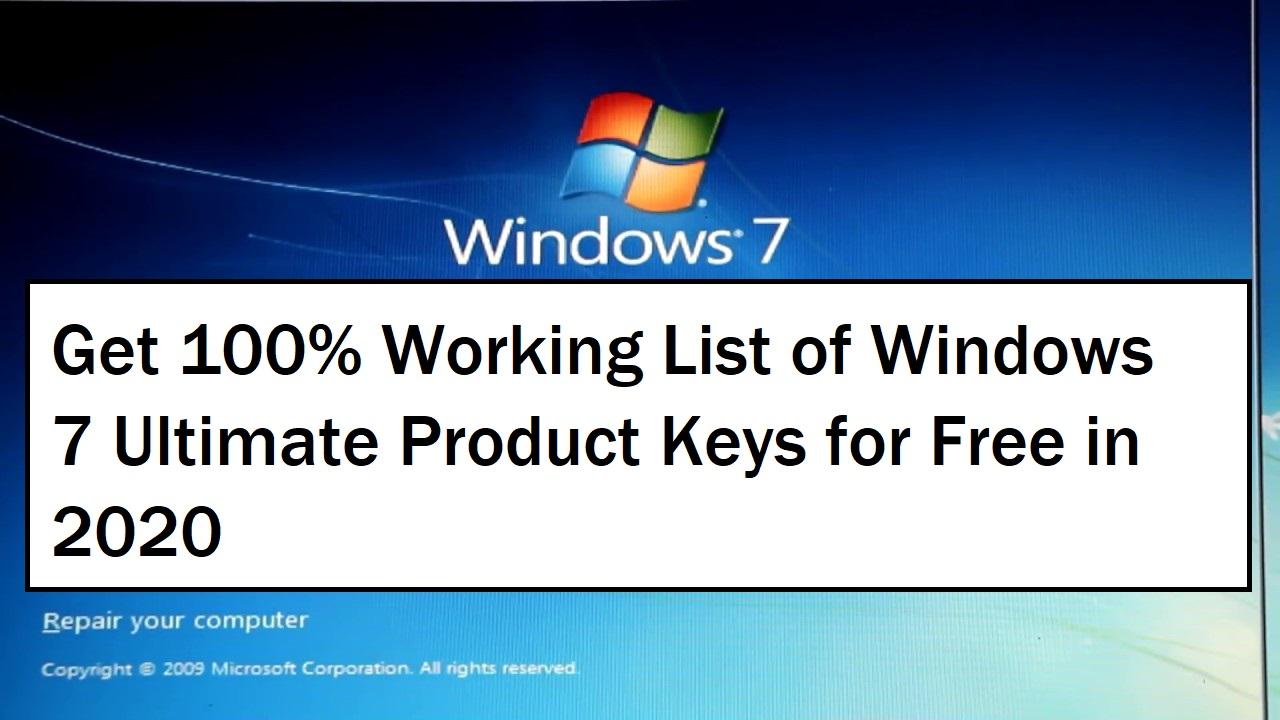 Free Windows 7 Ultimate Product Key Working 2020 Techiemag