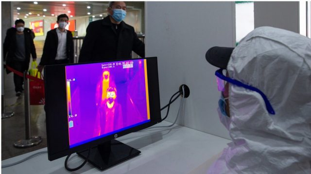 Mitigating the Spread of Coronavirus with Smart AI-based Fever Detection Camera