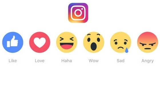 Instagram reactions