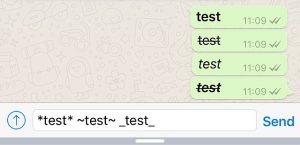 Change Fonts in WhatsApp Chats